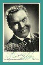 Hans Richter | attore | ORIGINALE-AUTOGRAFO SU rüdel-STAR cartolina