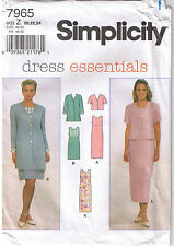 Sleeveless Dress Empire Waist V-Neck Jackets Sewing Pattern Plus Size 20 22 24