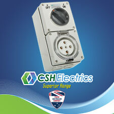 IP66 5 Pin 50 Amp 3 Phase Switched Socket Outlet Weatherproof