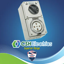 IP66 5 Pin 50 Amp Three Phase Switched Socket Outlet Weatherproof