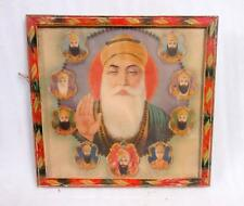 Vintage Collectible Old Hindu Sikhism Religion Sikh Gurus Saint Holy Litho Print