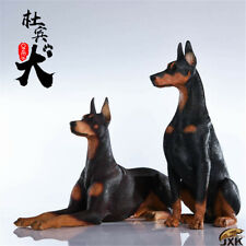 JxK 1/6 Doberman Pinscher Dog Pet Figure Animal Model Collector Decor Toy Gift