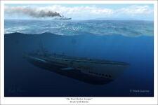 """USS Bowfin Submarine Art Print - 16"""" x 24"""""""