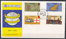 GUERNSEY 1974 ☀ Union Postale Universelle 1874-1974 ☀ official FDC cover