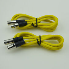 2,Cable-Headset Plug Lead Small 3pin Mini XLR Female to Male Microphone Cable 1m