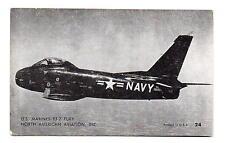 North American Aviation FJ-2 Fury U.S. Marines Penny Arcade Card 1950s