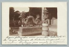 Bronze Dragon Statue—Imperial Palace BEIJING Chinese RPPC Antique Photo <1908