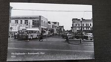 POSTCARD 1954 GALLIA AND CHILLICOTHE STREET WITH TAXI CAB   PORTSMOUTH OHIO OH