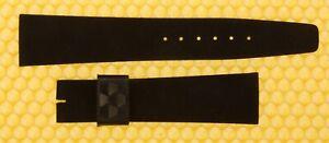 20mm Vintage OMEGA Water-Proof BLACK Flat Watch Strap Band 20x16 <NWoT>