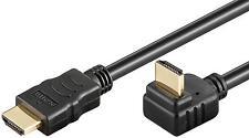 1,5m goobay hdmi™ winkel stecker kabel ethernet 270° gewinkelt vergoldet schwarz