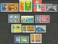 UN-New York #100-122, 1962-1963 Annual Sets, Unused NH