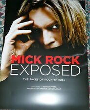 "Mick Rock Bowie Queen Reed Poster to ""Exposed: The Faces Of Rock and Roll"" Book"