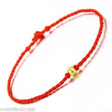 Authentic 999 GOLD 24K Yellow Gold Beaded knitted Bracelet / 0.10g Bead