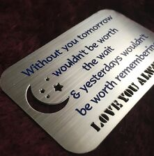 Gifts for him mens Womens Love Daughter Son Mother Dad Wife Engraved