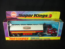 Matchbox Super Kings K-16 Texaco Ford LTS Articulated Tanker Diecast in Box
