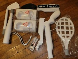 Nintendo Wii Accessories Lot! Racket Golf Club Base More! 0500