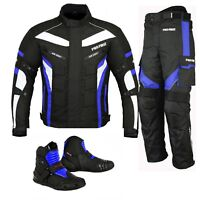 Motorcycle Motorbike Riding Suits Jacket Trouser Biker Suit Riding Leather Boots