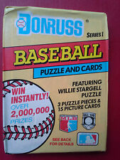 Donruss Series 1 Baseball Puzzle and Cards featuring Willie Stargell Puzzle