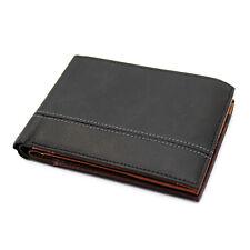 Portafoglio uomo in vera pelle con porta assegni portamonete e porta carte