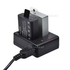 USB Travel Dock Dual Battery Charger Cradle For SJCAM SJ4000 ~ SJ6000 Cam KK