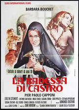 CINEMA-manifesto LA BADESSA DI CASTRO bouchet, capponi, stewart, CRISPINO
