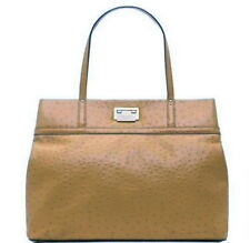 KATE SPADE WINDSOR SQUARE GABRIELLE TOTE BAG CASHEW TAN OSTRICH LEATHER R $478