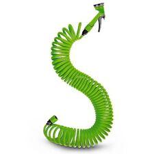 Tubo Estensibile da Giardino Terrazzo Pompa Spirale 15mt con pistola irrigazione