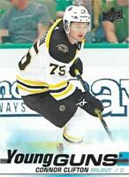 Connor Clifton 2019-20 Upper Deck Series 1 Young Guns Boston Bruins Rookie Card