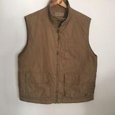 Men's RUFF HEWN VEST Outdoor Wear Active Lined Size Medium BEIGE Khaki