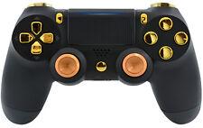 BLACK/GOLD ALUMINUM PS4 PRO Rapid Fire 40 MODS controller for Destiny, COD &More