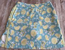 LILLY PULITZER Lemons into Lemonade Skort Skirt Vintage Size 10
