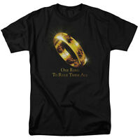 Lord of the Rings ONE RING Licensed Adult T-Shirt All Sizes