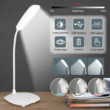Dimmable LED Desk Light Reading Night Lamp USB Rechargeable Table Touch Control