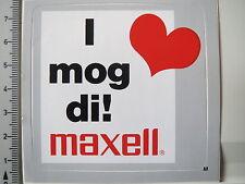 Aufkleber Sticker Maxell - Vintage - Kassette - 80er Jahre - Audio/Video (3088)