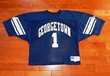 GEORGETOWN HOYAS Authentic Jersey #1 Adult XL Russell Athletic Blue Vintage!