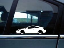 x2 Lowered car silhouette stickers for Toyota Celica VVTi, T Sport no spoiler