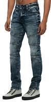 True Religion Men's Geno Moto Slim Fit Stretch Jeans in Jaded Blue