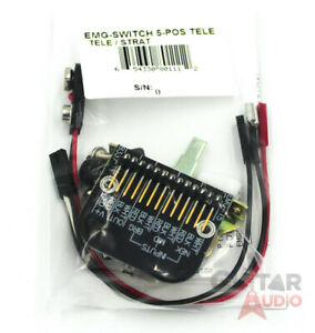 EMG 5-Position Solderless Pickup Switch for Tele/Strat  (6011.00)