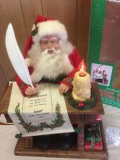 "Holiday Creations Animated Writing Santa Large 18"" Lighted w/ Motion Sound MIB"