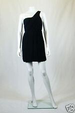 *THEORY* TALIANA SILK ONE SHOULDER BLACK DRESS (UK 8)