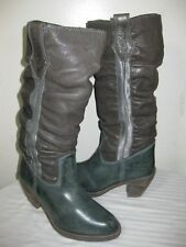 DIESEL  LEATHER SLOUCH GRAY BOOTS WOMENS SHOES SIZE 36 / 6