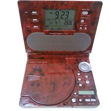 Sharper Image CD Alarm Clock AM FM Radio Sound Soother Maroon Model SI586MAH
