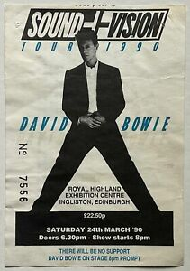 David Bowie Concert Ticket Royal Highland Exhibition Edinburgh 24th Mar 1990