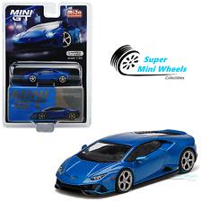Mini GT 1:64 Lamborghini Huracan EVO Blu Eleos (Blue) #229