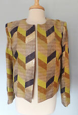 SASS AND BIDE NWOT Yellow Blue Gold Multi THE ARCHIVE Jacket SZ 14