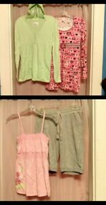 Justice LOT- 1 Top/Dress w/Hood XXL, Top XXL, Dress XL, Drawstring Shorts 16