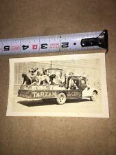 UNIQUE TARZAN ICE CREAM ADVERTISING TRUCK ORIGINAL 1930's FAMILY SNAP SHOT