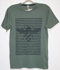 B16. bench t-shirt con motivo tamaño L oliva nuevo con etiqueta