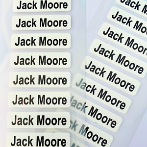 100 x PERSONALISED IRON ON SCHOOL UNIFORM CARE HOME NAME LABELS TAGS WATERPROOF