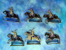 HEINRICHSEN - Plats d'étain - Zinnfiguren - 6 cuirassiers prussiens